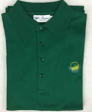 Vtg Pickering Green Golf Polo Shirt Cotton Lisle Eastward Ho Cape Cod MA Size XL