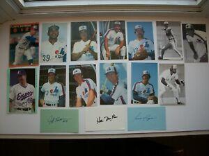 Lot of 9 Postcard & 5 Autographs MLB Baseball Expos Montreal