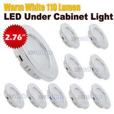 10X 12V 2W 70mm LED Recessed Down Ceiling Light RV Camper Trailer Truck Boat WW