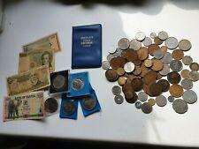 More details for old coins/banknotes job lot. 5 different crowns, 1st decimal set, uk world