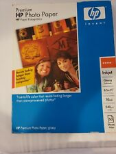 HP Premium Photo Paper Glossy C6979A  8.5x11 50 Sheets 7.5 mil