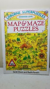Usborne Super Puzzles Book. Map And Maze. Vintage 1993.
