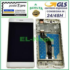 DISPLAY LCD + FRAME PER HUAWEI P9 LITE VNS-L31 L23 L21 TOUCH SCREEN VETRO BIANCO