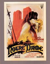 Charles Laughton & Maureen O'Hara, Notre Dame postcard by Western Architecture