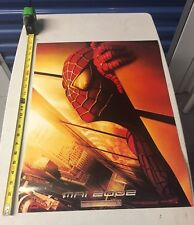 2001 French Spider Man Movie Poster w/ Twin Towers New York w Plane (RARE)
