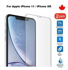 """For iPhone 11 & XR (6.1"""") Tempered Glass Hard Screen Protector Cover (2 Pack)"""