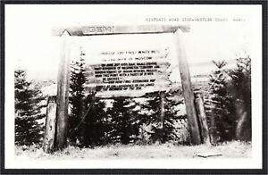 Moscow Idaho Historic Road Sign Real Photo Postcard RPPC 1940s Cecil Nixon