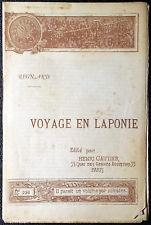 Jean-François Regnard, Voyage en Laponie, Ed. Henri Gautier, 1891