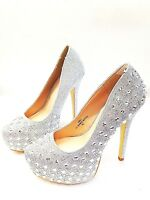 New Women's Fashion Glitter Rhine-Stone Sexy High Heel Stilettos Platform Pumps