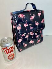 NEW Vera  BRADLEY FLAMINGO LUNCH COOLER BAG INSULATED Pink Navy