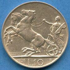 1928 Italy 10 Lira Silver Coin ( 10 Grams .835 ) *FERT*