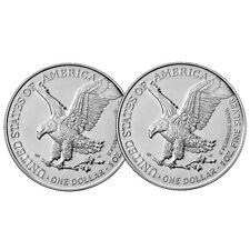 Lot of 2 - 2021 $1 Type 2 American Silver Eagle 1oz BU