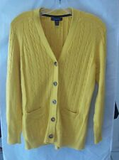 Woman's Yellow Cardigan from Land's End Size S/P 6-8