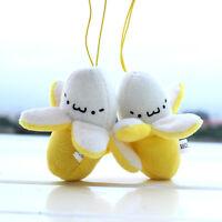 Banana Plush Doll Soft Toy Keychain Pendant For Cell Phone Handbag JR