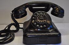 altes Bakelittelefon  schwarz