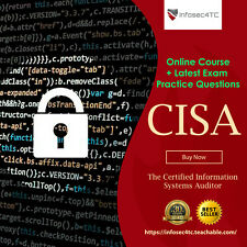 ISACA CISA Certification Video Course + Latest Exam Questions 2020