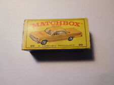 MATCHBOX LESNEY # 20 TAXI CAB BOX  ORIGINAL BOX