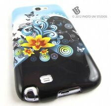 YELLOW LILY FLOWERS HARD SNAP-ON CASE COVER SAMSUNG GALAXY NOTE II 2 ACCESSORY