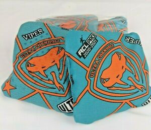 Ultra Cornhole Viper Bags - ACL Pro Stamp - ACL Approved Teal Orange 2020-2021