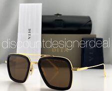 DITA FLIGHT 006 Sunglasses Gold Navy Blue Frame Brown Lenses 7806-D-NVY-GLD 52mm