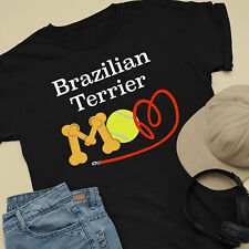 Brazilian Terrier Dog Mom and Dad Comfy Cute Dog Lover T-Shirt