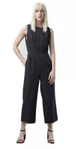 NIQUE Pinstripe Jitsuko Jumpsuit Size 14 L Large New With Tags RRP$229 Sold Out