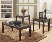 Ashley North Shore Occasional Table, Set of 3 In Dark Brown Finish T533-13 New