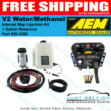 AEM 30-3300 Water Methanol Injection Kit 1 Gallon Tank V2 w/ MAP Sensor Gas FI