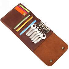 Leather Key Wallet Women Men Keychain Pouch Bag Car Key Card Holder Case Gift