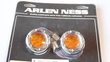 Arlen Ness LED Fire Ring Chrome Harley-Davidson Bullet style indicator Lens