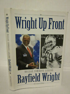 SIGNED Rayfield Wright Up Front Book Dallas Cowboys NFL Legend Autograph Landry