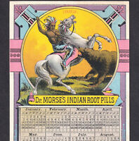 Dr Morses Indian Root Pills 1883 Dead Shot Cure Bear Horse Victorian Trade Card