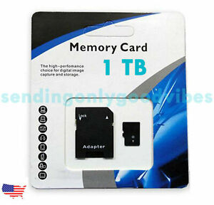 1TB Universal Micro SD SDXC TF Flash Memory Card Class 10