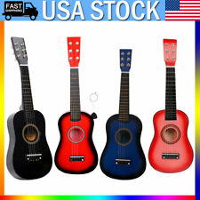 "4 Colors 23"" Children Kids Beginners Practice Acoustic Guitar with Pick 6 String"