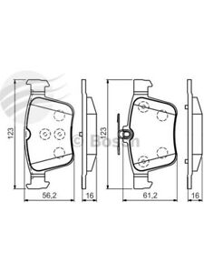 Bosch Brake Pad Rear Set Volkswagen Golf Mk7.77 90 103 110 Incl Gti (BP1503)