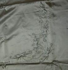 Genuine Vintage Grey Fur Mink Coat Jacket Satin Lining Jaquard Embroidery 3 Mtrs