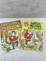 (2) Vintage Creative Child Press Christmas Coloring Books New, Great Condition!!