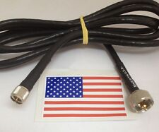 6ft PL-259 /Mini UHf HAM CB VHF RF RG-8X Coax Antenna Extension Cable Made in US