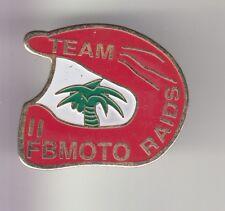 RARE PINS PIN'S ..  MOTO MOTORCYCLE TEAM  ITALIA FB MOTO RAIDS CASQUE RALLYE ~DR