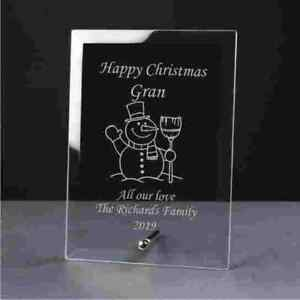 Xmas Gift Engraved Glass Plaque
