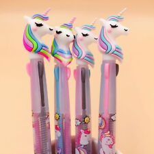 Unicorn Multi-color 3in1 Color Ballpoint Pen Ball Point Pens Kids School Office