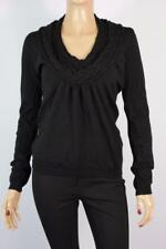 SPORTSCRAFT Sz XS Ladies Black Pure Wool Jumper - BUY ANY 5 GET FREE POST
