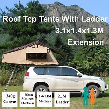 Rooftop Roof Top Tent 3.1x1.4M Camper Trailer 4WD 4X4 Camping CarRack Ladder