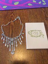 Kirks Folly Silver Crystal Flower Necklace