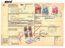 AZ295 1977 Switzerland HIGH VALUES Schaffhausen *Insured Mail* Card Italy PTS