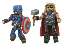 Marvel MiniMates Series 61 Age of Ultron Avengers Captain America Thor 2 Pack