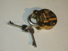 Small Reproduction Antique Old English Squire Padlock model number 330 Brass