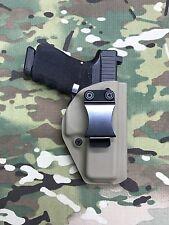 FDE Kydex IWB Holster for Glock 19 GEN5 w/adj. Retention-Appendix Draw
