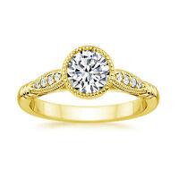 Hallmark 14K Yellow Gold Engagement Ring Size N 0.66Ct Diamond Solitaire D/VVS