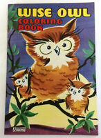 Wise Owl Vintage 1950's Coloring Book - A Big Little Book